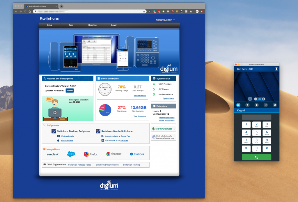 Digium adds Desktop Softphones for MacOS and Windows to Switchvox 7.1