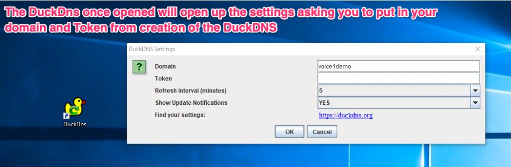 Configuring windows-gui client